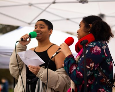 """Zyel and Zunyana Crier both sings """"Lean on Me"""" to represent the pain we all share."""