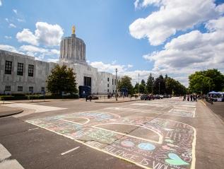 Photos: Hundreds gather at Oregon Capital for Black Lives Matterprotest